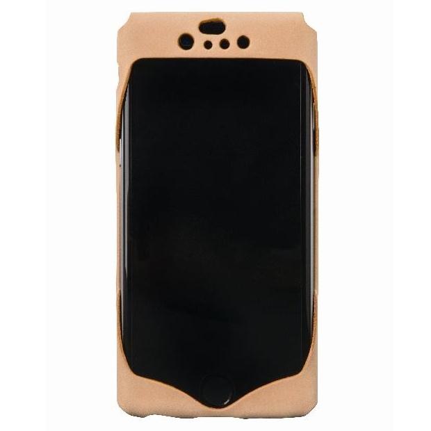1枚革から成型したレザーケース Wear ナチュラル iPhone 6ケース