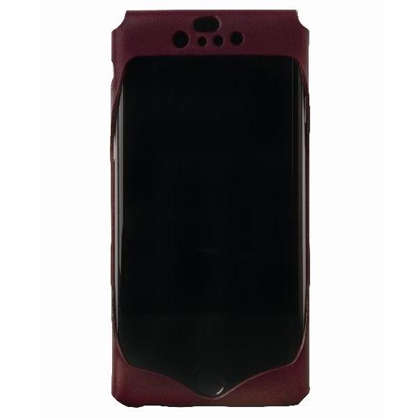 【iPhone6ケース】1枚革から成型したレザーケース Wear ワイン iPhone 6ケース_0