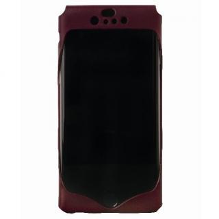 1枚革から成型したレザーケース Wear ワイン iPhone 6ケース