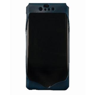 1枚革から成型したレザーケース Wear ブルー iPhone 6ケース