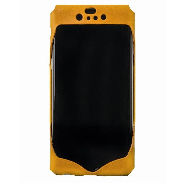 iPhone6 ケース 1枚革から成型したレザーケース Wear イエロー iPhone 6s/6ケース_0