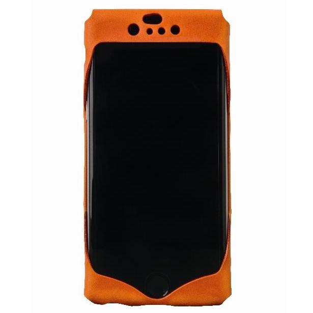 1枚革から成型したレザーケース Wear オレンジ iPhone 6ケース