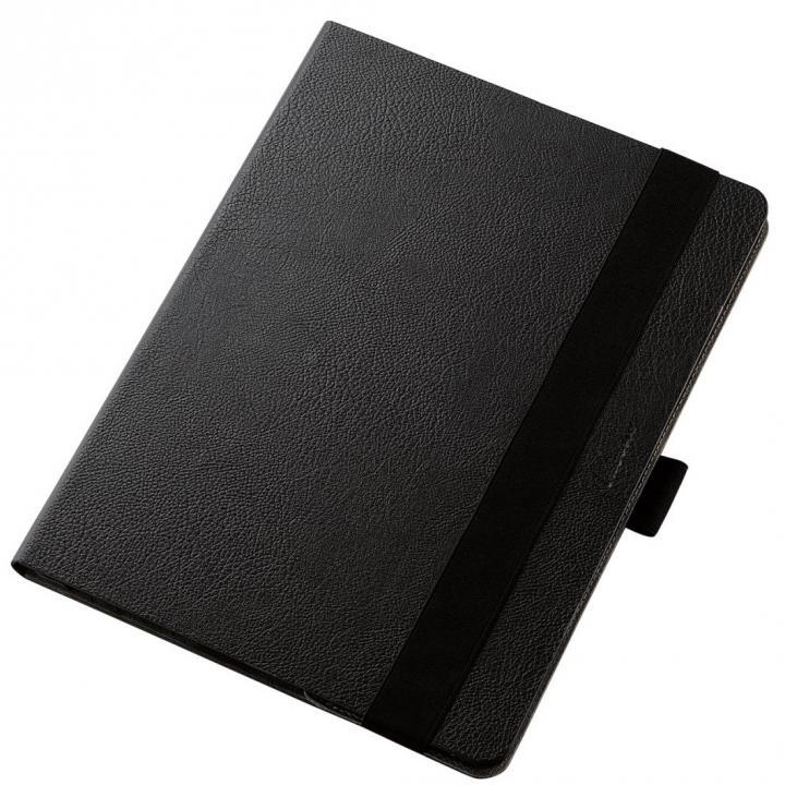 360度調節スタンド ソフトレザーケース ブラック 12.9インチiPad Pro_0