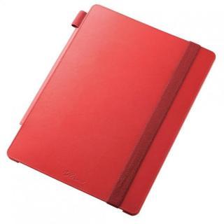 4段階調節スタンド ソフトレザーケース レッド 12.9インチiPad Pro