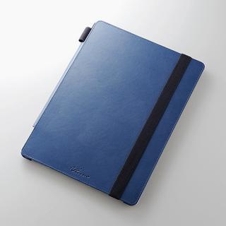 4段階調節スタンド ソフトレザーケース ブルー 12.9インチiPad Pro