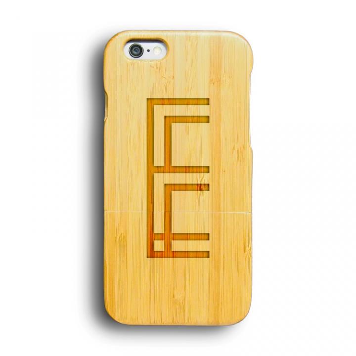 iPhone6 ケース kibaco 天然竹ケース アルファベットE iPhone 6ケース_0