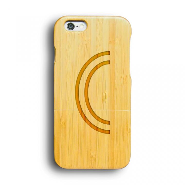 iPhone6 ケース kibaco 天然竹ケース アルファベットC iPhone 6ケース_0
