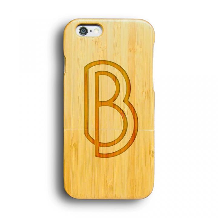 iPhone6 ケース kibaco 天然竹ケース アルファベットB iPhone 6ケース_0