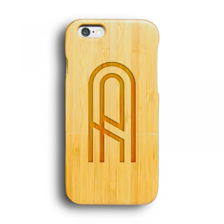 iPhone6 ケース kibaco 天然竹ケース アルファベットA iPhone 6ケース_0