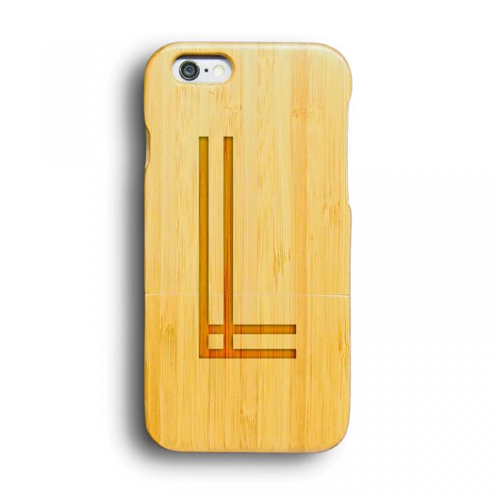 iPhone6 ケース kibaco 天然竹ケース アルファベットL iPhone 6ケース_0