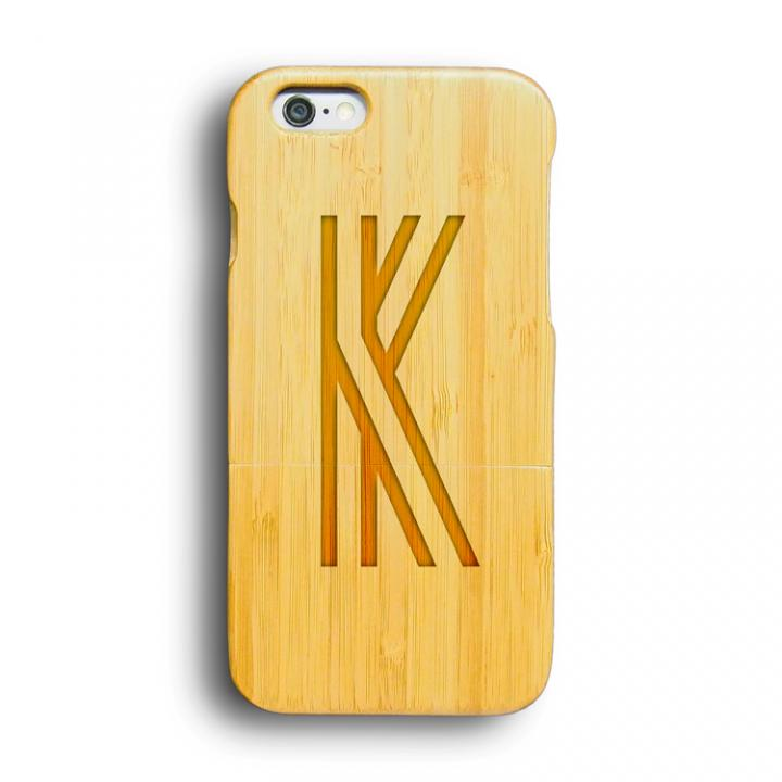 【iPhone6ケース】kibaco 天然竹ケース アルファベットK iPhone 6ケース_0