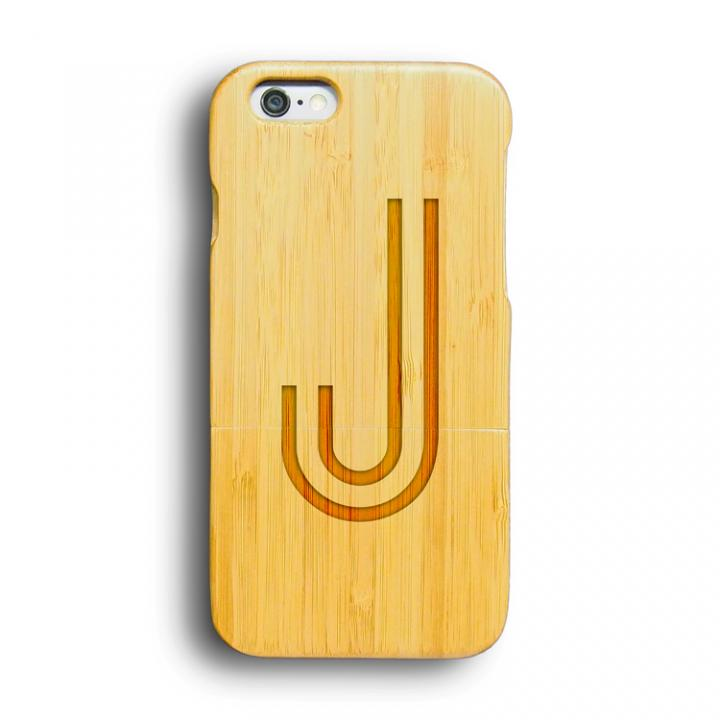 iPhone6 ケース kibaco 天然竹ケース アルファベットJ iPhone 6ケース_0