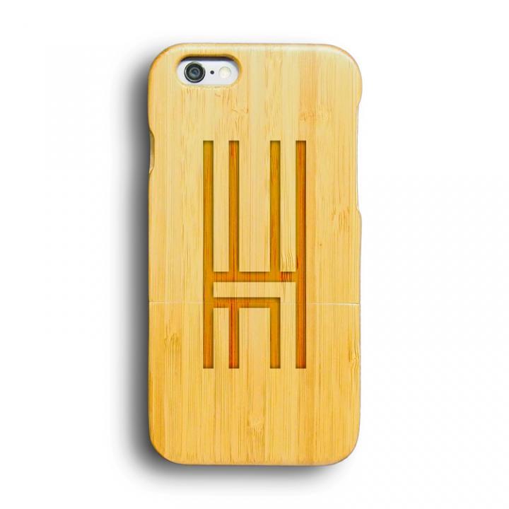 iPhone6 ケース kibaco 天然竹ケース アルファベットH iPhone 6ケース_0
