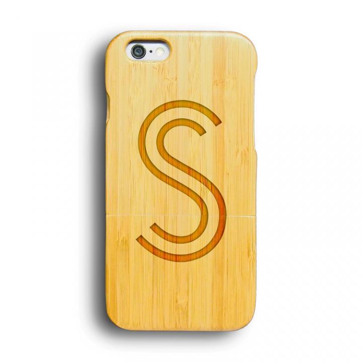 【iPhone6ケース】kibaco 天然竹ケース アルファベットS iPhone 6ケース_0