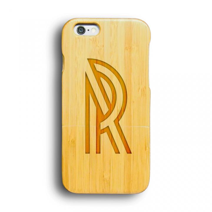 iPhone6 ケース kibaco 天然竹ケース アルファベットR iPhone 6ケース_0