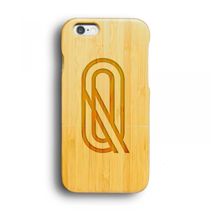 kibaco 天然竹ケース アルファベットQ iPhone 6ケース