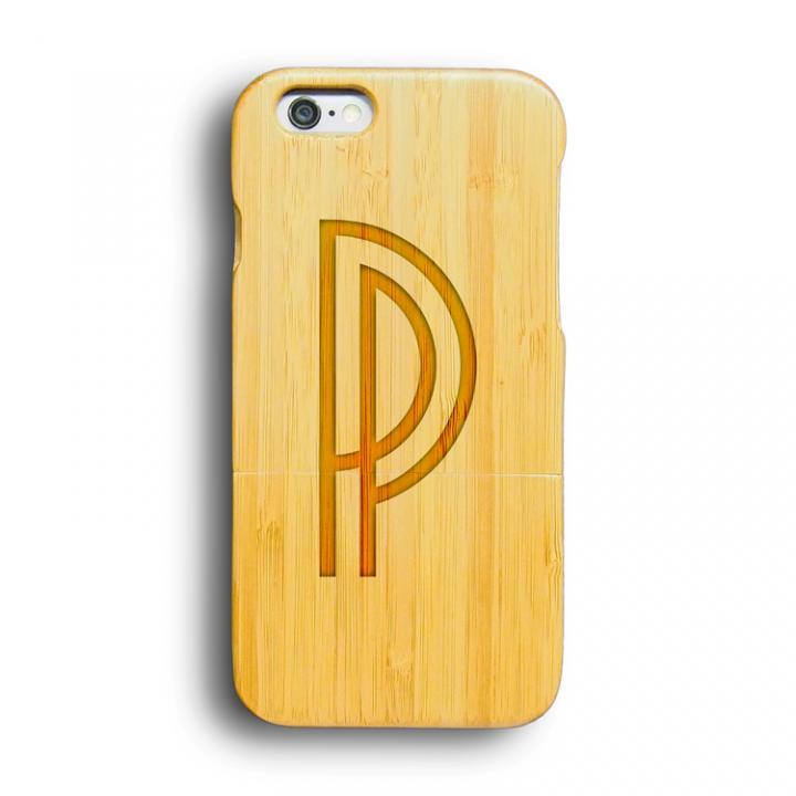 iPhone6 ケース kibaco 天然竹ケース アルファベットP iPhone 6ケース_0