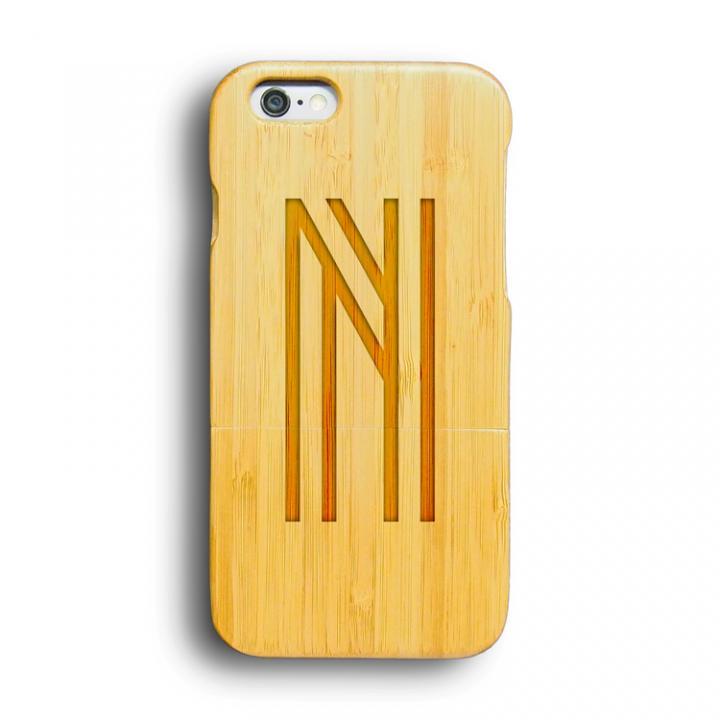 iPhone6 ケース kibaco 天然竹ケース アルファベットN iPhone 6ケース_0