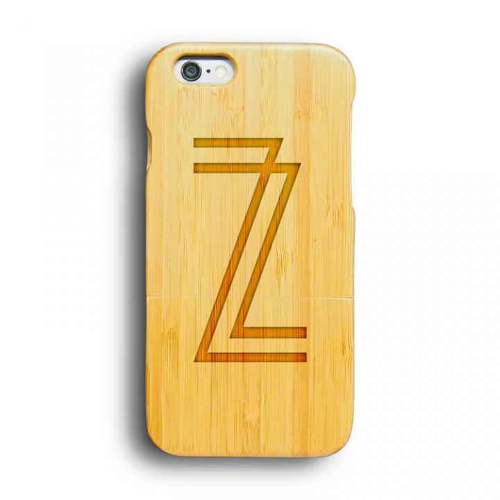 iPhone6 ケース kibaco 天然竹ケース アルファベットZ iPhone 6ケース_0