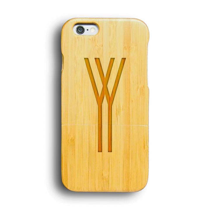 iPhone6 ケース kibaco 天然竹ケース アルファベットY iPhone 6ケース_0