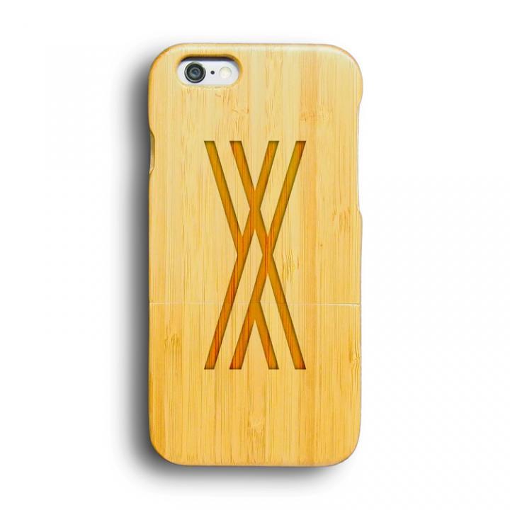 kibaco 天然竹ケース アルファベットX iPhone 6ケース