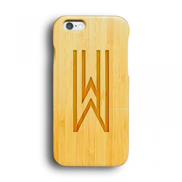 kibaco 天然竹ケース アルファベットW iPhone 6ケース