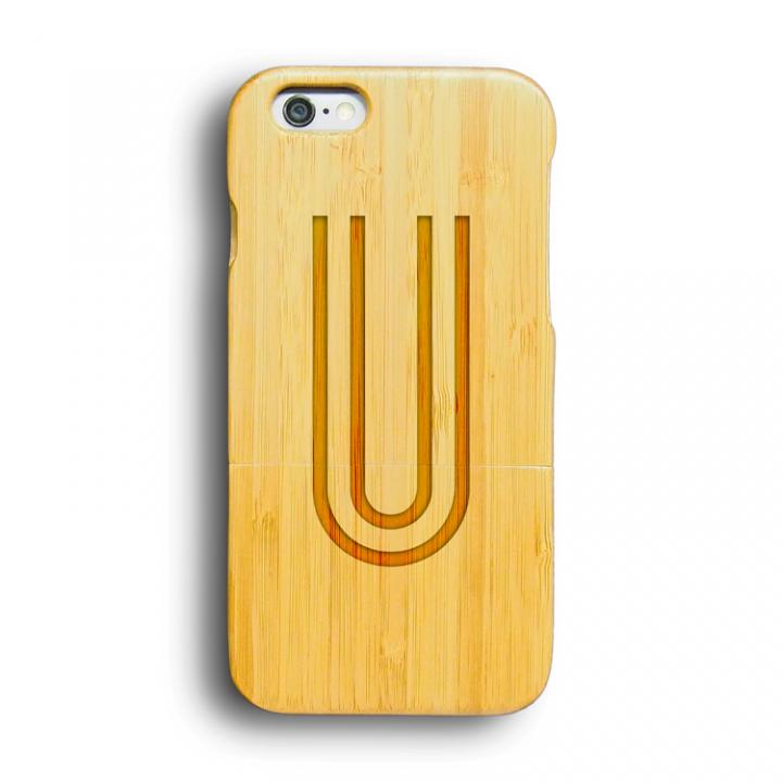 【iPhone6ケース】kibaco 天然竹ケース アルファベットU iPhone 6ケース_0