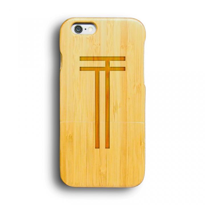 【iPhone6ケース】kibaco 天然竹ケース アルファベットT iPhone 6ケース_0