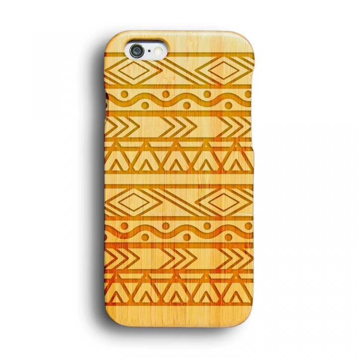 iPhone6 ケース kibaco 天然竹ケース アフリカン iPhone 6ケース_0