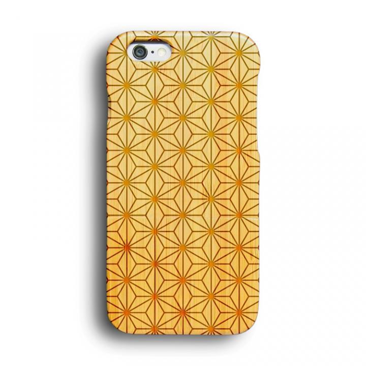 iPhone6 ケース kibaco 天然竹ケース 麻の葉 iPhone 6ケース_0