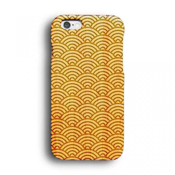 iPhone6 ケース kibaco 天然竹ケース 青海波 iPhone 6ケース_0