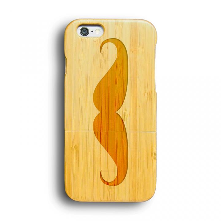 iPhone6 ケース kibaco 天然竹ケース マスタッシュ iPhone 6ケース_0