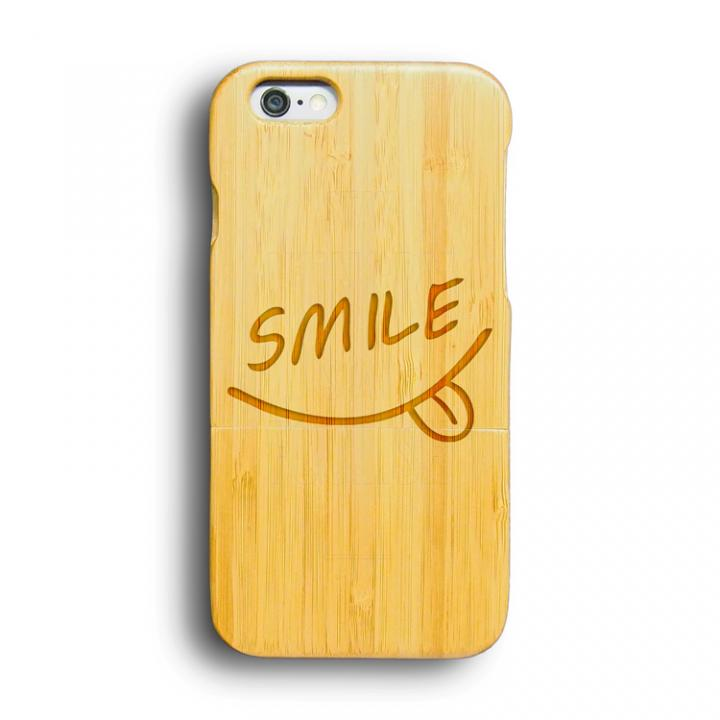 iPhone6 ケース kibaco 天然竹ケース スマイル iPhone 6ケース_0