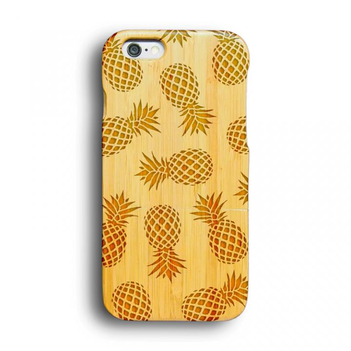 【iPhone6ケース】kibaco 天然竹ケース パイナップル iPhone 6ケース_0