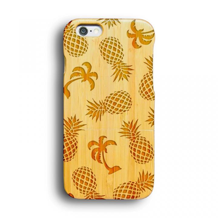 kibaco 天然竹ケース パイン/パームツリー iPhone 6ケース