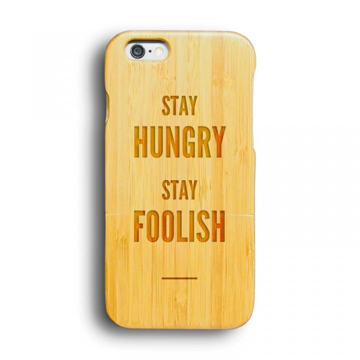【iPhone6ケース】kibaco 天然竹ケース ステイハングリー iPhone 6ケース_0