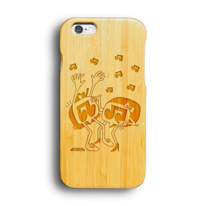 【iPhone6ケース】kibaco 天然竹ケース FUN MUSIC Designed by KIRARIN iPhone 6ケース_0