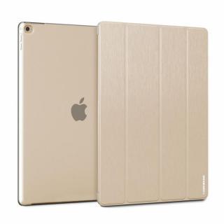 ブラッシュドメタル加工PUレザーケース TUNEWEAR ゴールド 12.9インチiPad Pro