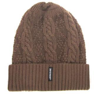 ヘッドホン付きニット帽子ブラウン