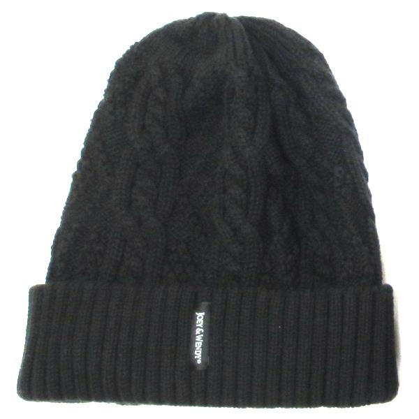 ヘッドホン付きニット帽子 ブラック