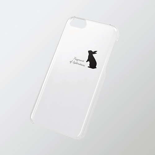 iPhone 5c用 シェルカバー(アップルテクスチャ) ウサギ_0