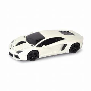 車型PC無線マウス ランボルギーニ アヴェンタドール ホワイト