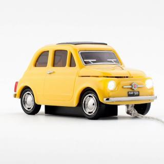車型PC有線マウス FIAT500 OLD イエロー