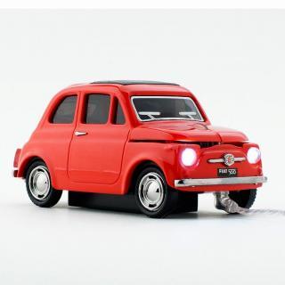 車型PC有線マウス FIAT500 OLD レッド