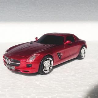 車型PC無線マウス Mercedes SLS AMG サファイアレッド