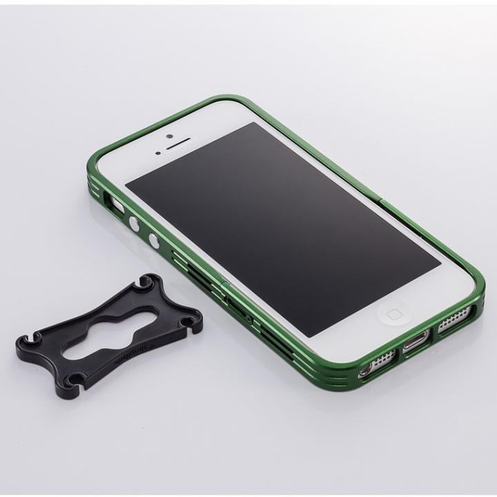アルミニズム - iPhone SE/5s/5用 バンパースタイル(ライム)