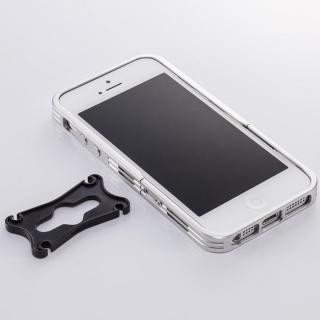 アルミニズム - iPhone SE/5s/5用 バンパースタイル(シルバー)