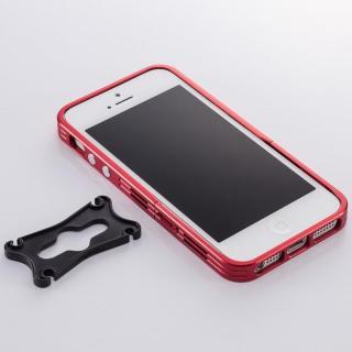 アルミニズム - iPhone SE/5s/5用 バンパースタイル(レッド)