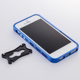 アルミニズム - iPhone SE/5s/5用 バンパースタイル(ブルー)