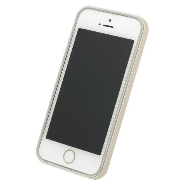 iPhone SE/5s/5 ケース フラットバンパーセット  iPhone SE/5s/5(ゴールド)_0